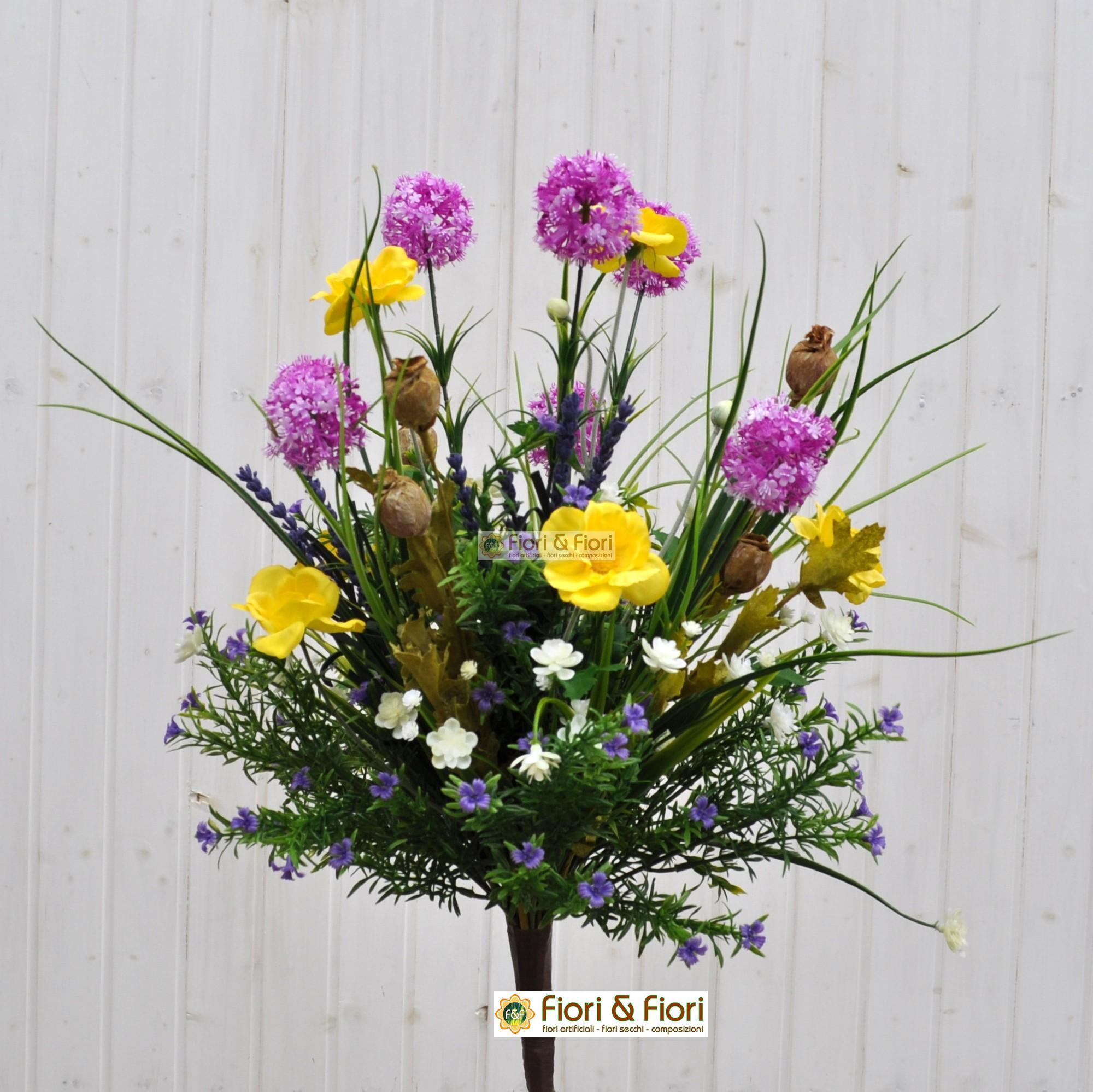 Bouquet fiori artificiali tirolo fucsia per arredamenti for Arredare con fiori finti