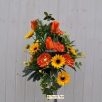 Bouquet fiori artificiali summer orange