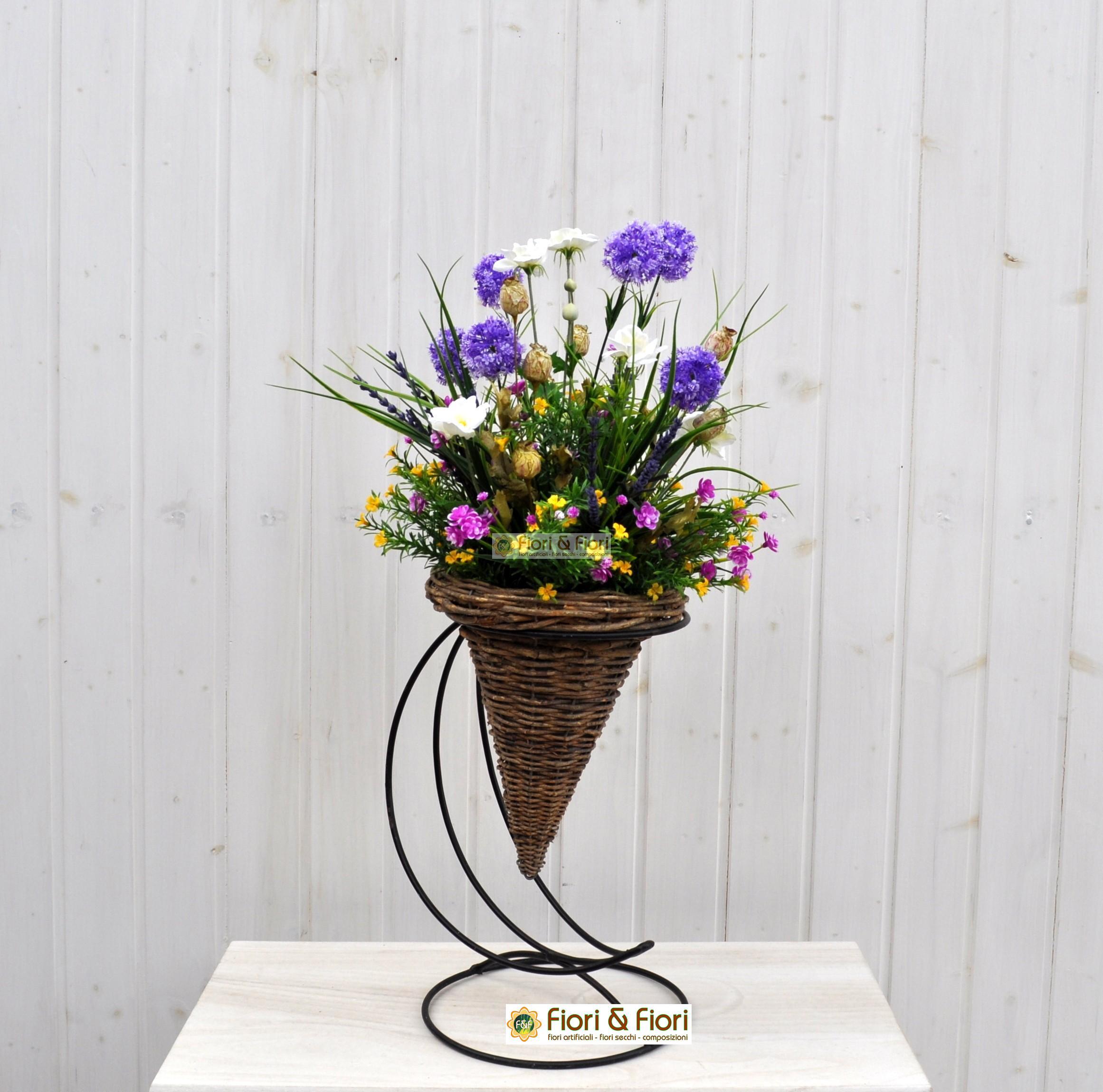 Bouquet fiori artificiali tirolo viola per decorazioni di - Decorazioni fiori finti ...