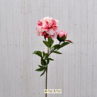 Peonia artificiale coral rosa