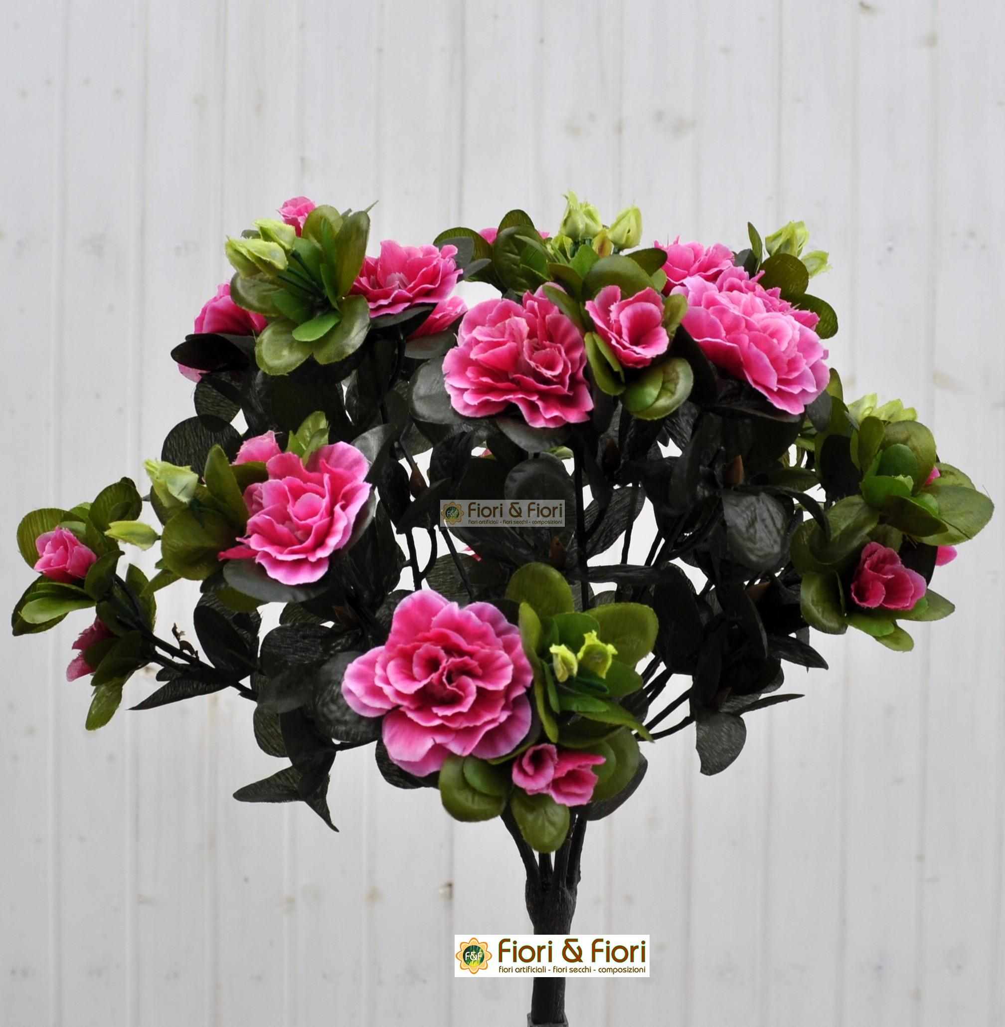 Azalea artificiale fucsia adatta sia da interno che esterno - Azalea pianta da interno o esterno ...