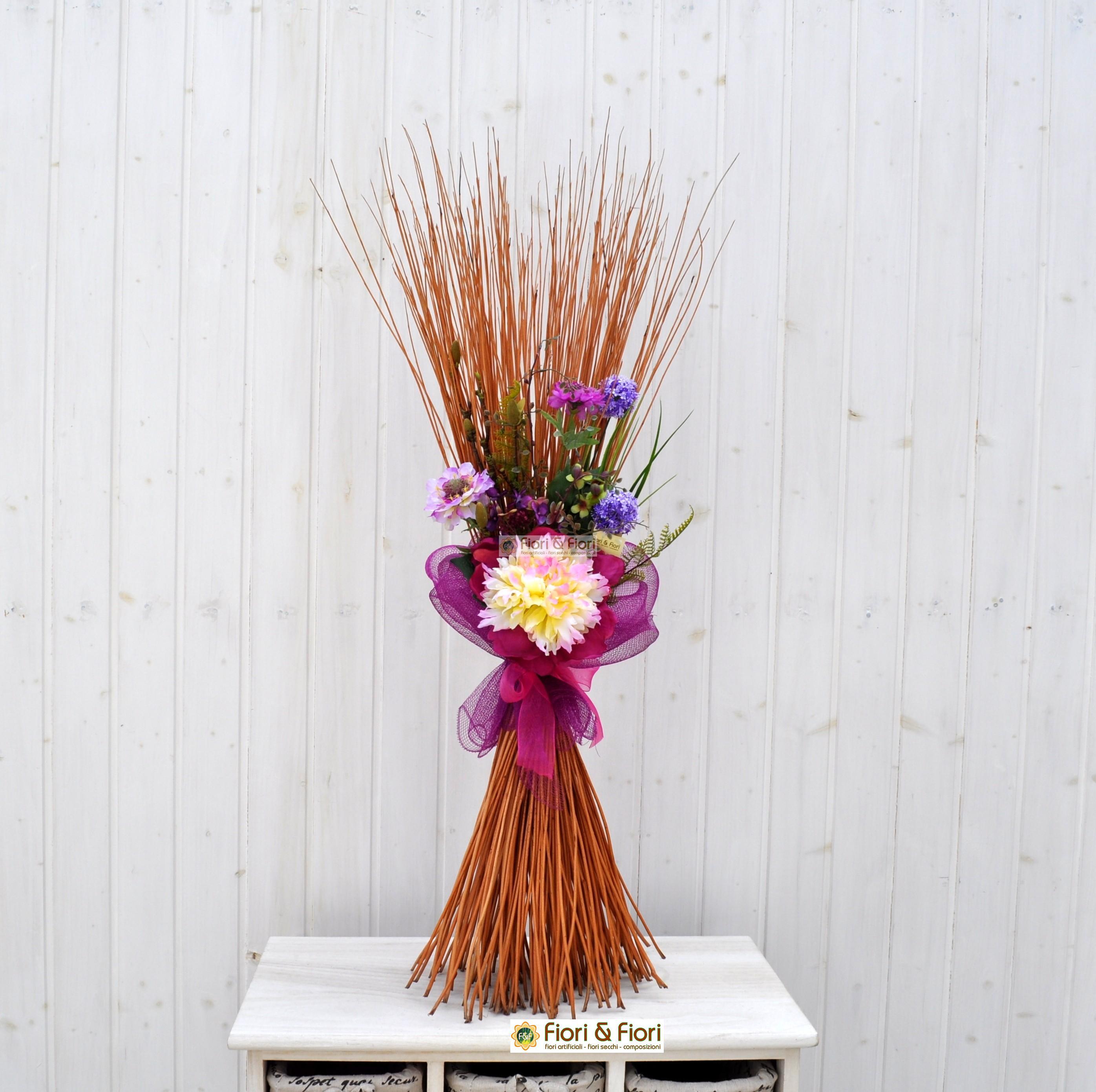 Composizione fiori artificiali Fresh fucsia