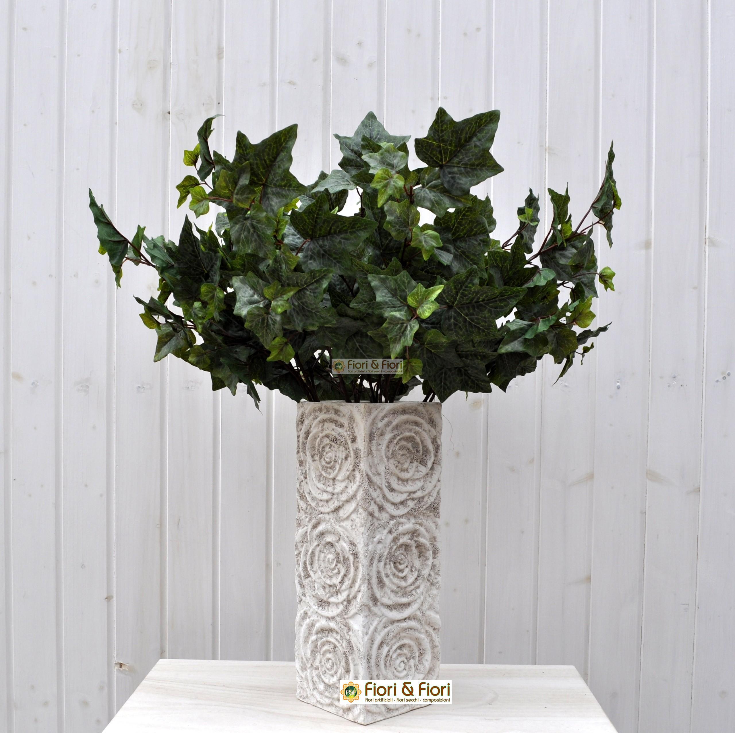 Edera artificiale verde in materiale real touch per decorazioni - Edera da interno ...