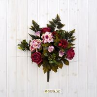 Bouquet fiori artificiali Carolina fucsia