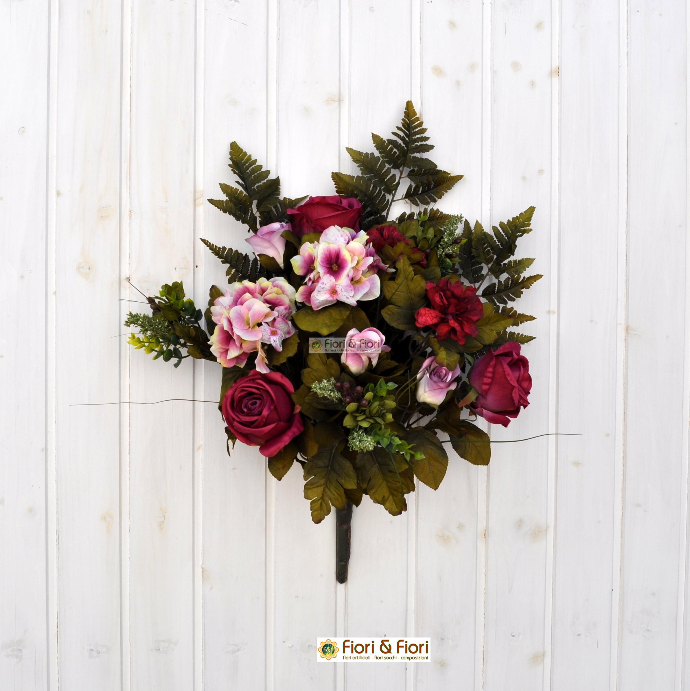 Top Bouquet di fiori artificiali: peonia, gerbera, orchidea KD24