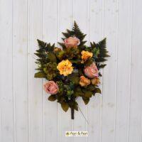 Bouquet fiori artificiali Carolina giallo