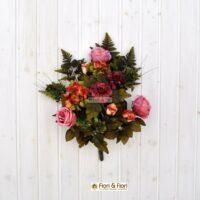 Bouquet fiori artificiali Carolina rosa
