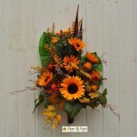 Bouquet fiori artificiali girasoli country