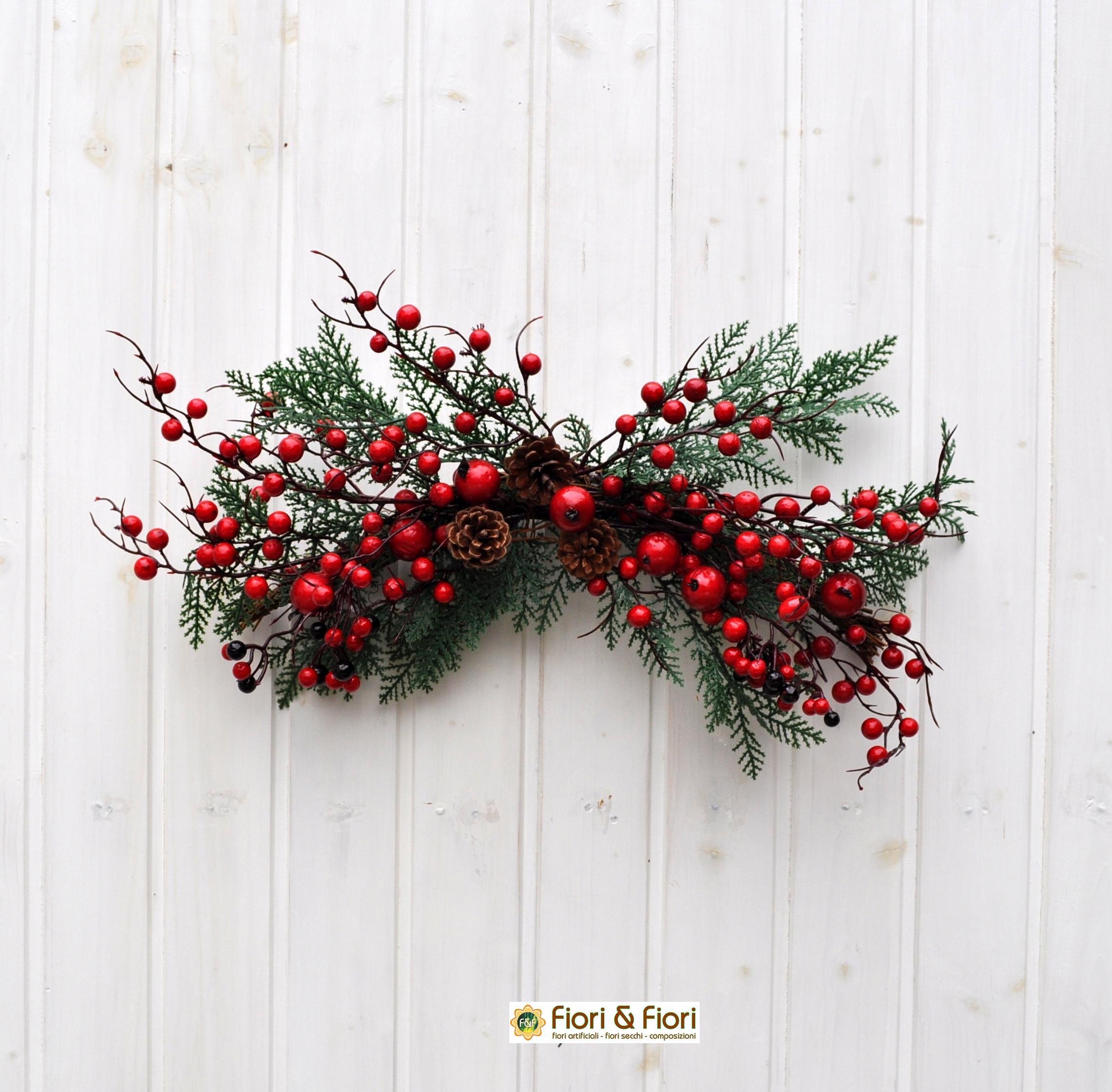 Decorazione bacche e pigne artificiali per decorazioni natalizie - Decorazioni natalizie pigne ...