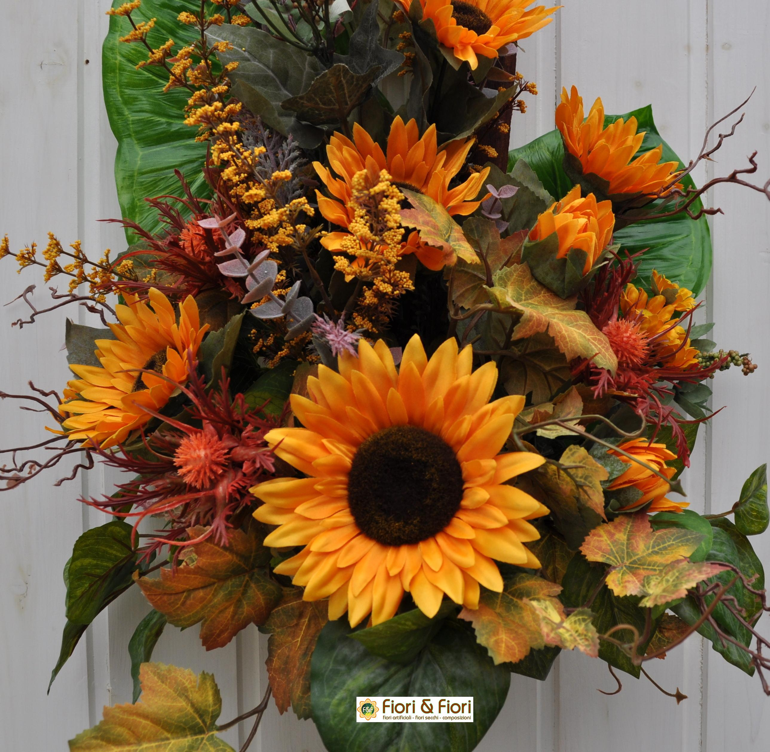 Girasoli Finti Matrimonio : Bouquet fiori artificiali girasoli country per decorazioni