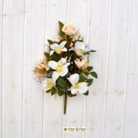 Bouquet fiori artificiali colombia bianco