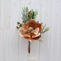 Decorazione fiori artificiali magnolia beige