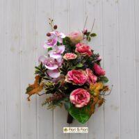 Bouquet fiori artificiali Rosa cabbage