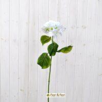 Fiore artificiale Ortensia bianca