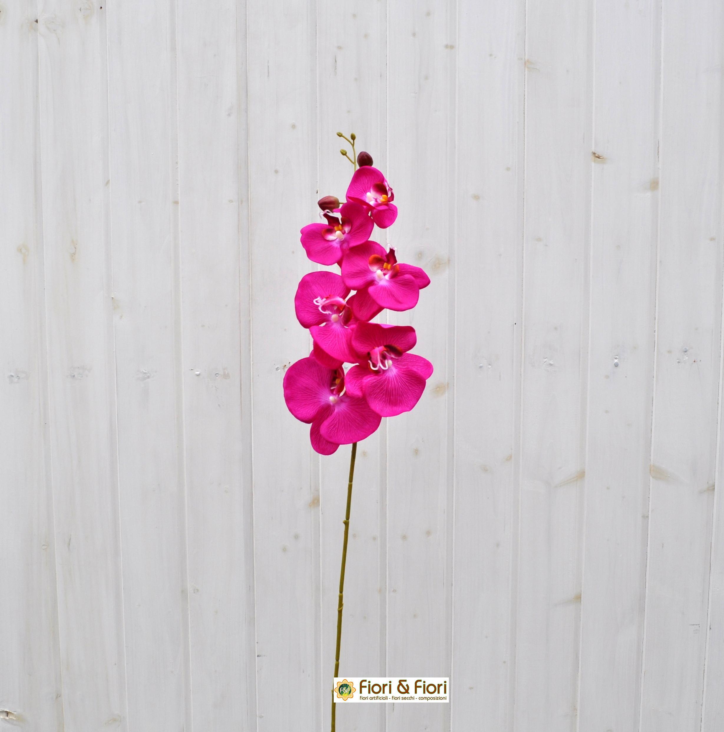 Fiore artificiale Orchidea phalaenopsis fucsia