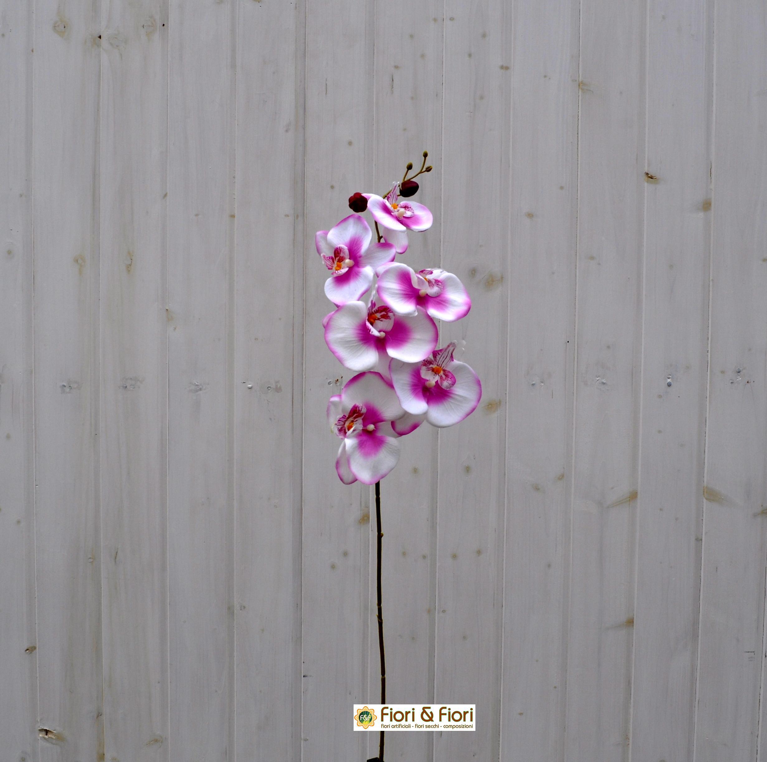 Fiore artificiale Orchidea phalaenopsis rosa
