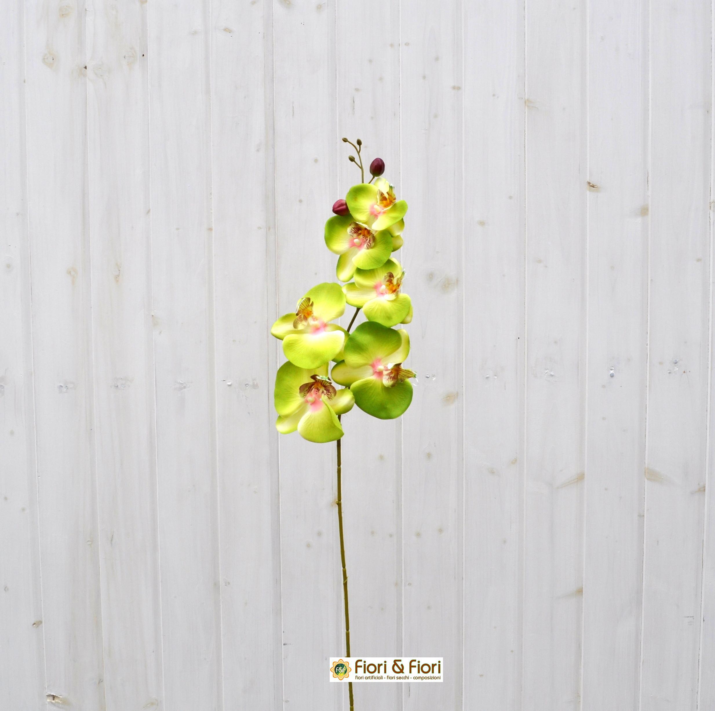 Fiore artificiale orchidea phalaenopsis bianca per bouquet for Orchidea finta