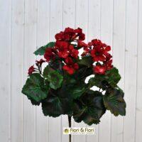 Geranio artificiale pelargonium rosso