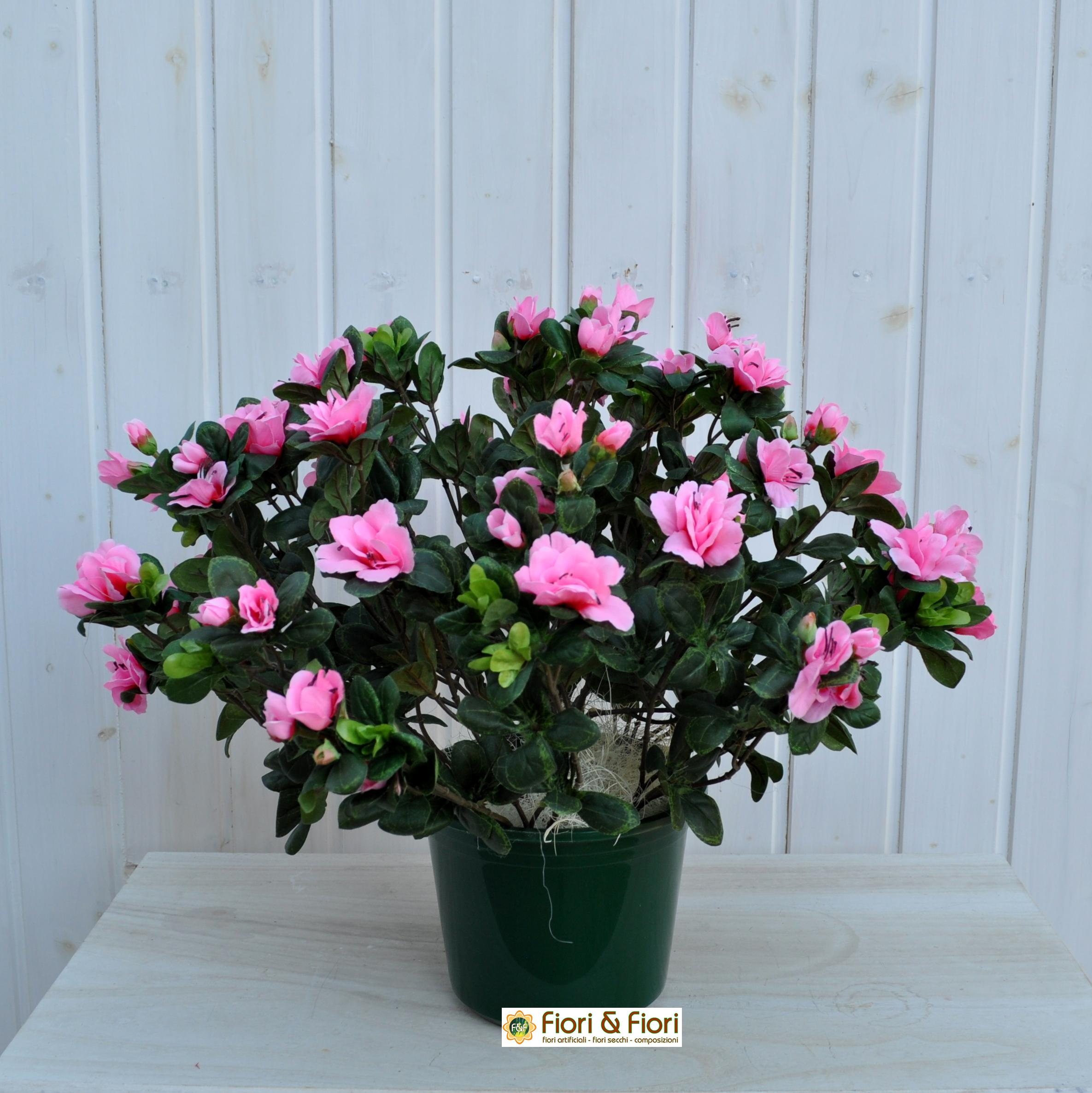 Azalea artificiale rustica rosa in materiale di ottima qualit - Azalea da interno ...