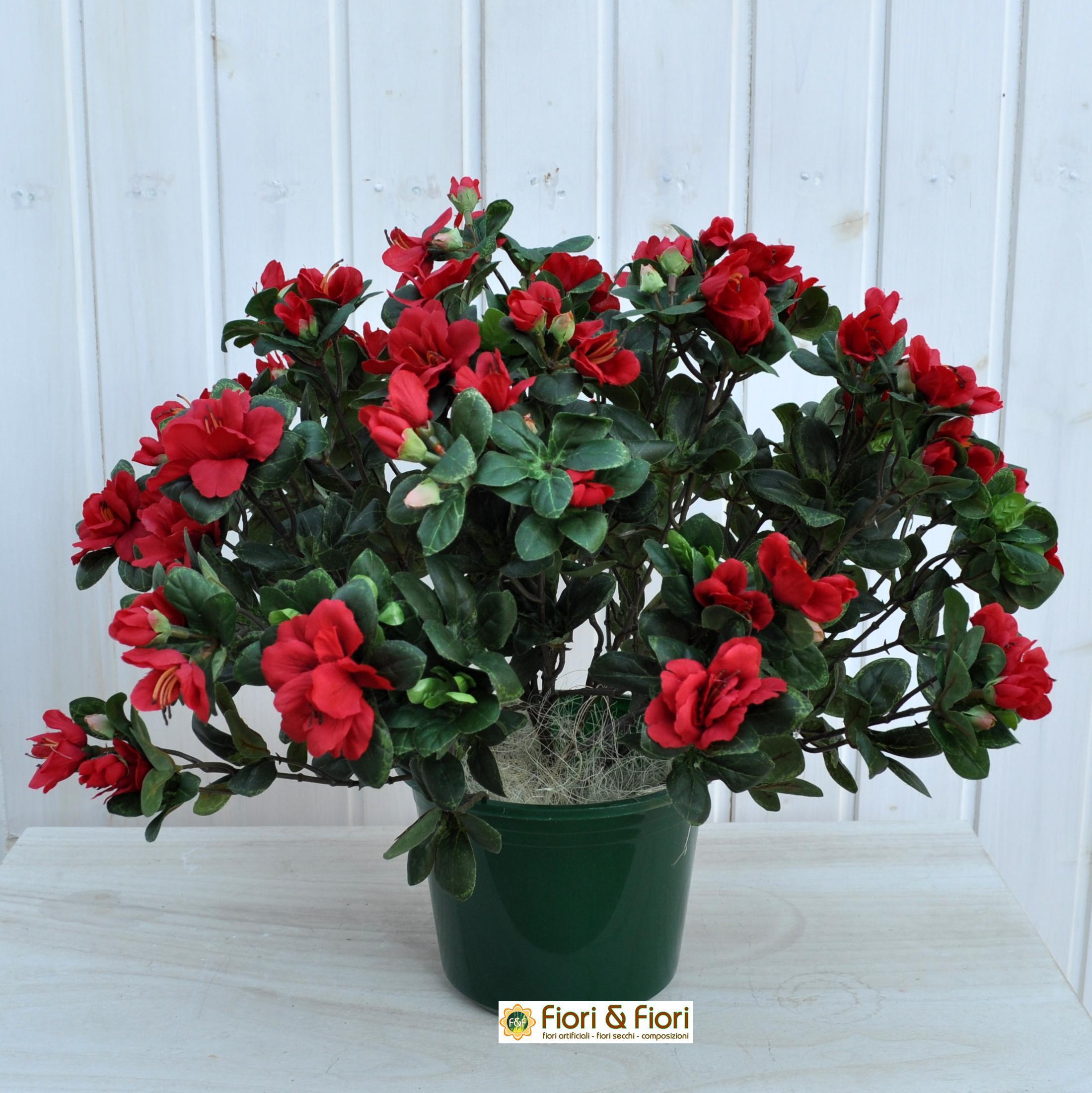 Azalea artificiale rustica rossa per decorazioni di - Azalea da interno ...