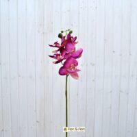 Fiore artificiale orchidea phalaenopsis real touch fucsia