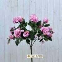 Bouquet fiori artificiali rosa gardens lilla