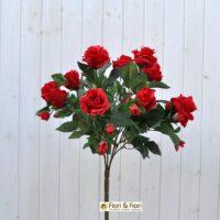 Bouquet fiori artificiali rosa gardens rosso