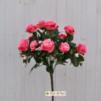 Bouquet fiori artificiali rosa gardens rosa