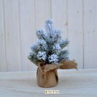 Alberello pino artificiale bianco