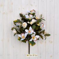 Bouquet fiori artificiali sophia bianco