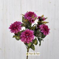 Bouquet fiori artificiali zinnia autunno fucsia