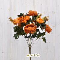 Peonie artificiali Karl Rosenfield arancio
