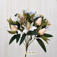 Bouquet fiori artificiali colibrì bianco