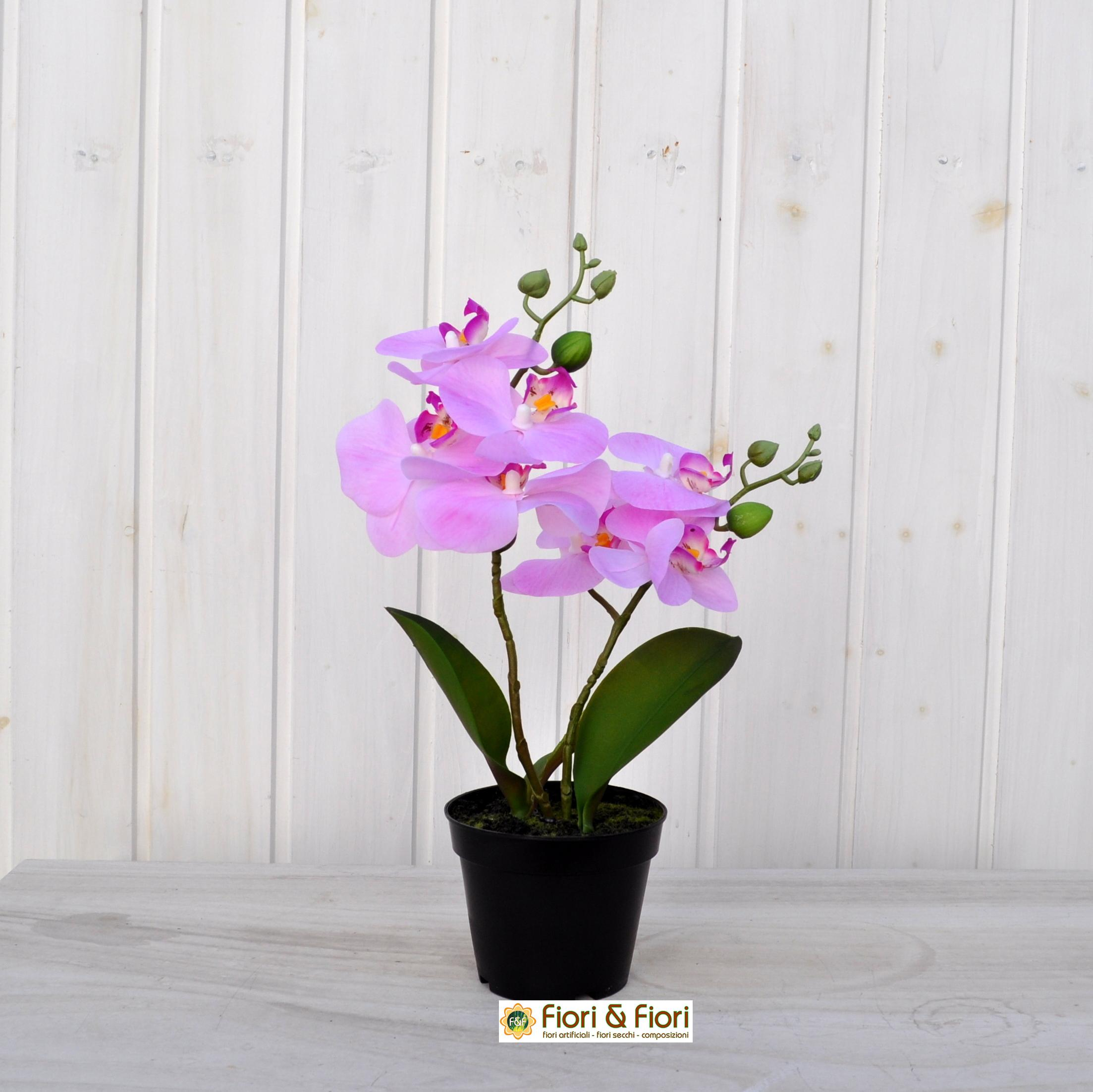 Pianta artificiale phalaenopsis rosa