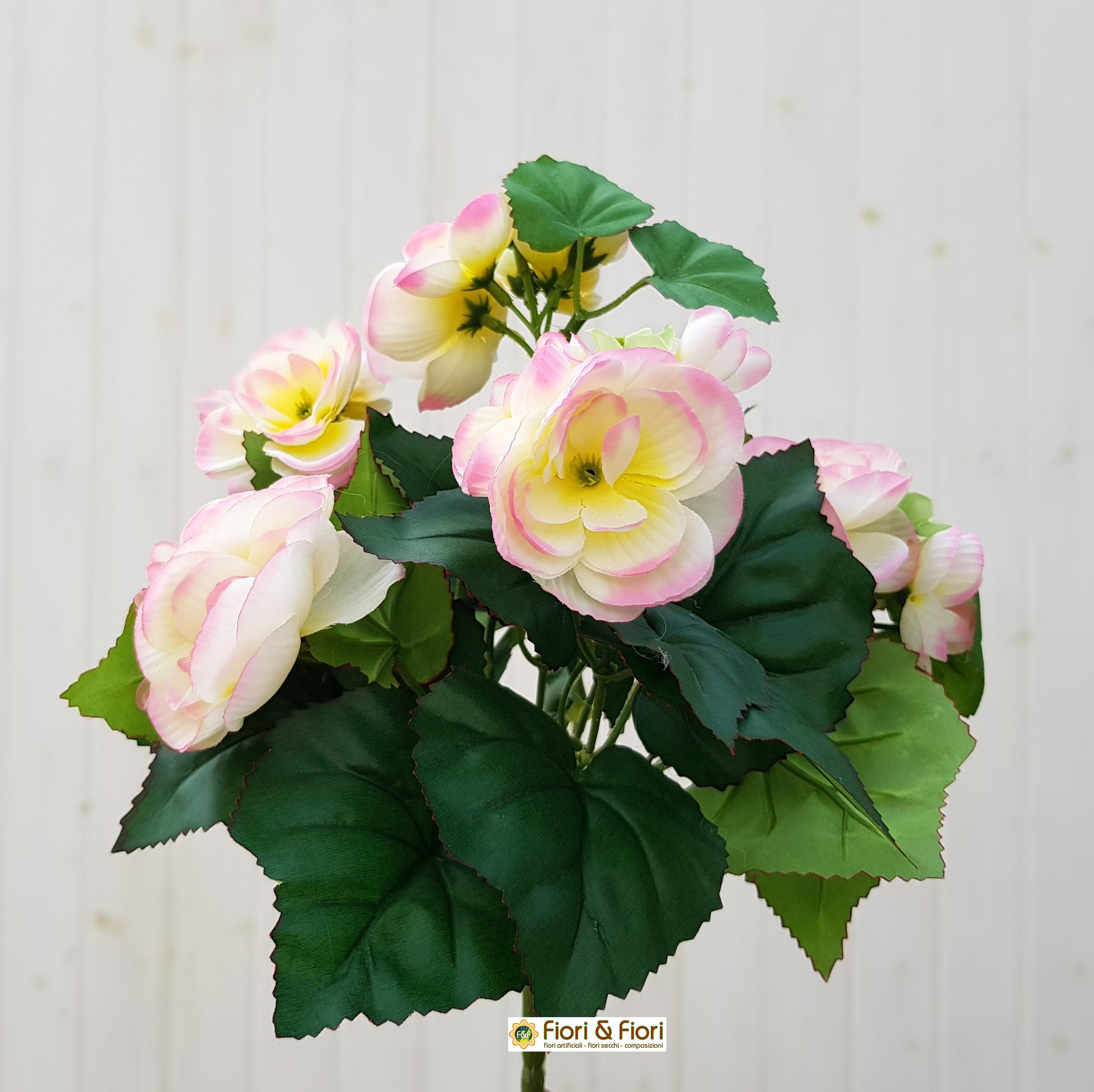 Begonia artificiale rosa