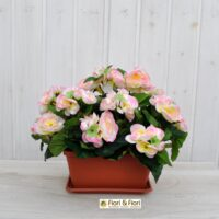 Begonia artificiale balcone rosa