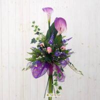 Bouquet fiori artificiali Calle e Lavanda