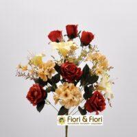 Bouquet fiori artificiali Giglio arancio