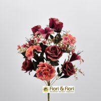 Bouquet fiori artificiali Giglio fucsia