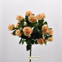 Bouquet fiori artificiali Rosa gardens salmone
