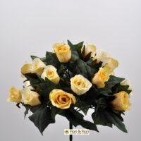 Bouquet fiori artificiali Rose Lady Mary bianco
