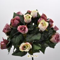 Bouquet fiori artificiali Rose Lady Mary rosa