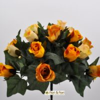 Bouquet fiori artificiali Lady Mary giallo