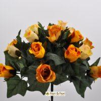 Bouquet fiori artificiali Lady Mary giallo