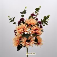 Bouquet fiori artificiali Dalia fucsia