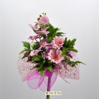 Bouquet fiori artificiali Fresh rosa