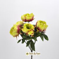 Bouquet fiori artificiali Peonia verde