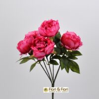 Bouquet fiori artificiali Peonia fucsia