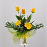 Bouquet Tulipani e Gerbera giallo