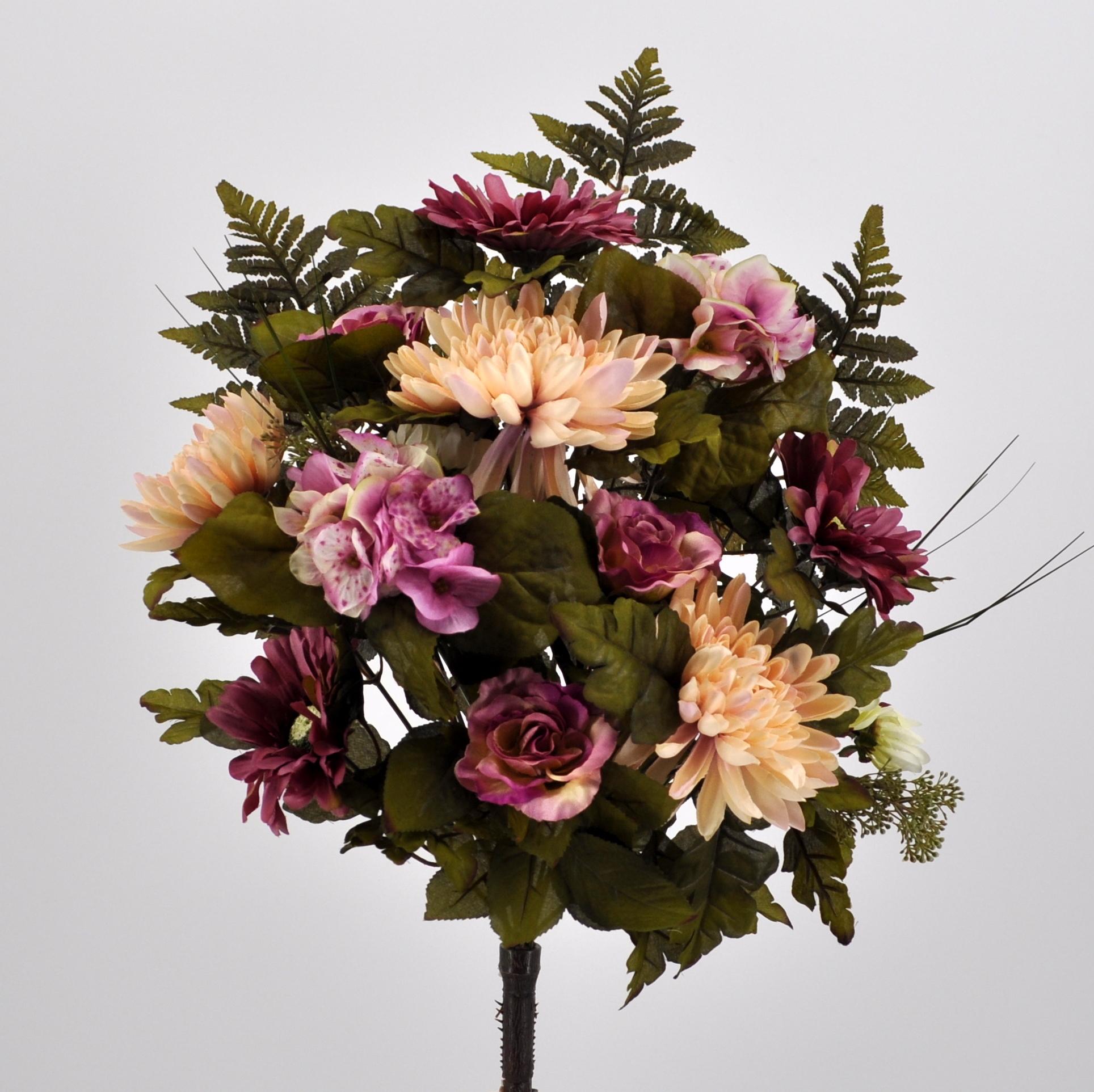 Vaso Con Ortensie Finte bouquet fiori artificiali virginia rosa